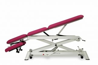 Hydraulisk briks til osteopati - 3 dele med hjul - Sakselift struktur