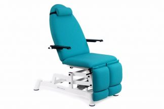 Elektrisk fodplejestol med forlængelige ben