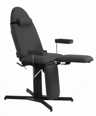 Tatoveringsstol med Stationær højde - Justerbare armlæn (højde / rotation)
