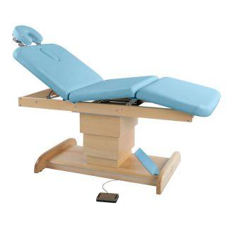 Elektrisk briks / massagebord - 3 dele med træbase