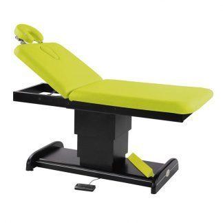 Elektrisk briks / massagebord - 2 dele med træbase (mørk finish)