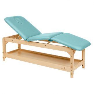 Stationær briks / massagebord - 3 dele med træbase - Justerbar - Opbevaring