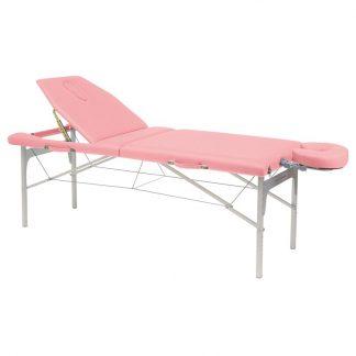 Massagebord i let aluminium - Justerbar højde - Nakkestøtte