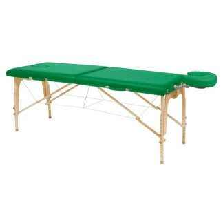 Foldbar træmassagebord - 2 dele - 182x70 cm - Justerbar