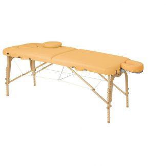 Foldbar træmassagebord - 2 dele - 186x70 cm - Justerbar