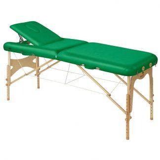 Foldbar træmassagebord - 2 dele - 186x70 cm - Justerbar - Ryglæn