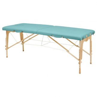 Foldbar træmassagebord - 2 dele - 182x70 cm - Justerbar højde