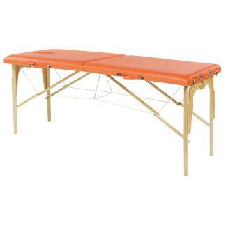 Foldbar træmassagebord - 2 dele - 182x62 cm - Stationær højde