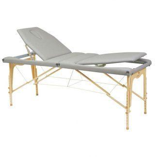 Foldbar træmassagebord - 2 dele - Justerbart ryglæn