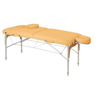 Foldbar massagebord (Aluminium) - 2 dele - 186x70 cm - Justerbar