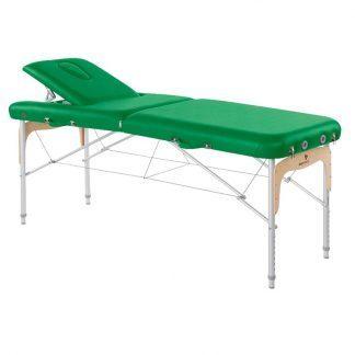 Foldbar massagebord - Aluminium - 2 dele - 186x70 cm - Ryglæn
