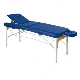 Foldbar massagebord - Aluminium - 2 dele - 186x70 cm - Ryglæn/ansigtspude