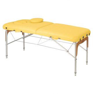 Foldbar massagebord (Alu) - 2 dele - 186x70 cm - Justerbar - Trædetaljer