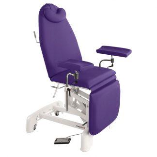Elektrisk prøvetagningsstol - 3 dele med hjul - Multifunktionelle armlæn