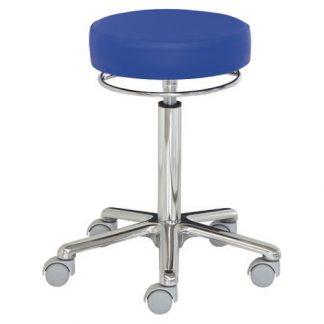 Rund stol med aluminium base - 360 graders højdejustering