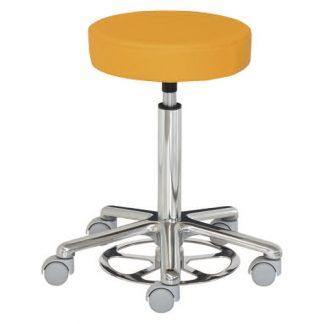 Rund stol - Fodmanøvreret - Aluminium base