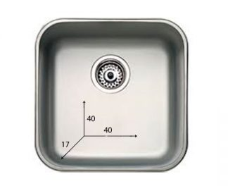 Håndvask lavet af rustfri stål - 40x40x17 cm