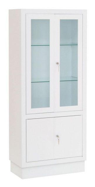 Instrumentskab - 60x30x140 cm - Hvid finish
