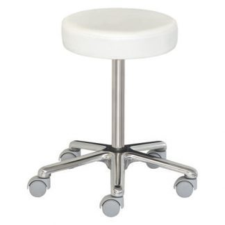 Lav stol med hjul - Højdejustering med skrue - Aluminium base