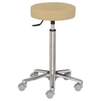 Rund stol med aluminium base