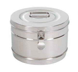 Cylindrisk sterilisationsholder lavet af rustfri stål - Ø20x14 cm