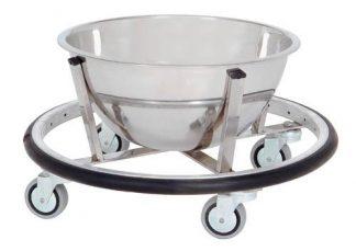 Skål med vogn på hjul til operationsrum - 8L - Støtte: Rustfrit stål