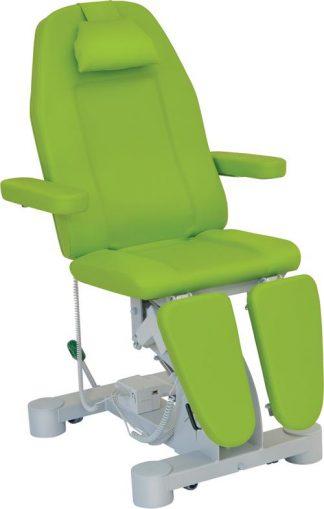 Elektrisk fodplejestol - 3 dele med armlæn og hjul