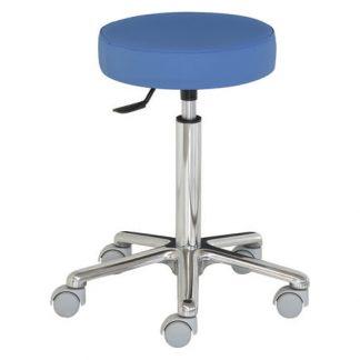 Rund stol med aluminium base - Ekstra høj