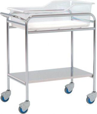 Spædbarnsseng til neonatologi - Forkromet stål struktur - 80x48x85 cm