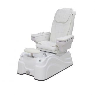 Komfortabel og elegant SPA/Pedicurestol med armlæn - Høj kvalitets betræk