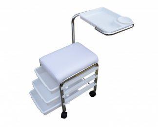 Manicurestol Udstryret med 3 opbevaringsskuffer