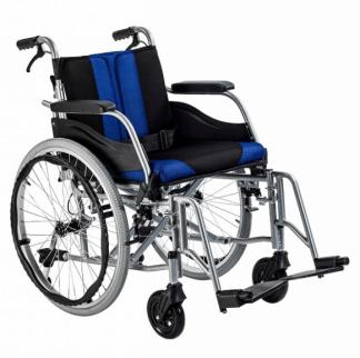 Foldbar kørestol med Aluminiumsramme - Til indendørs- og udendørs brug
