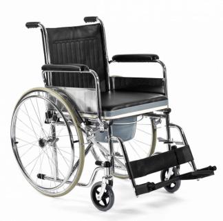 Foldbar kørestol med toiletfunktion