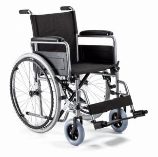 Foldbar kørestol med stålramme