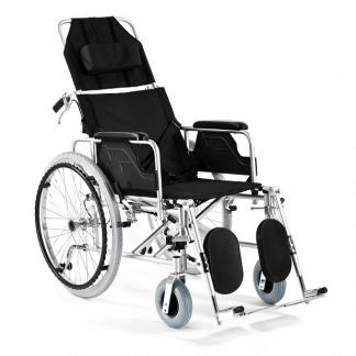 Foldbar kørestol med Aluminium ramme - Justerbart ryglæn