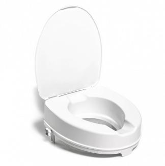 Hævet toiletsæde med låg - 10 cm