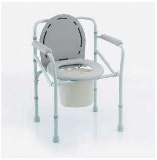 Foldbar toiletstol