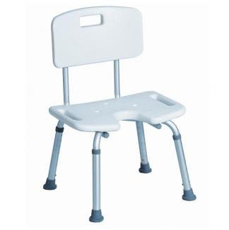Brusesæde med ryglæn og armlæn - U-formet siddeområde