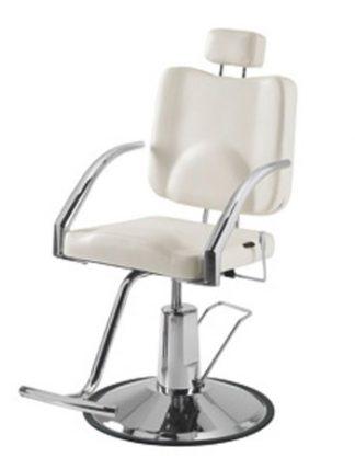 Roterbar makeup-stol med forkromet ramme