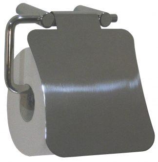 Toiletpapirholder med et låg - Rustfrit stål (AISI 304)