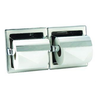 Toiletpapirholder (2 stk) i rustfrit stål (AISI 304) - Til installation