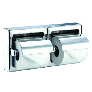 Toiletpapirholder (dobbelt) i rustfrit stål (AISI 304)