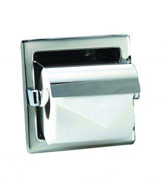 Toiletpapirholder i rustfrit stål (AISI 304) - 160 x 160 x 120 mm
