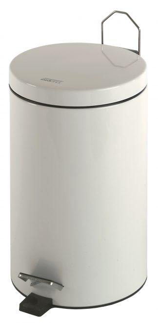 Cylinderformet affaldsspand med pedal - 12 Liter