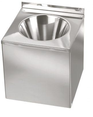 Vægmonteret håndvask fremstillet i rustfrit stål (AISI 304)