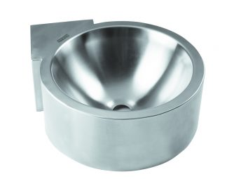 Væg- og hjørnemonteret rustfri stål håndvask (AISI 304)