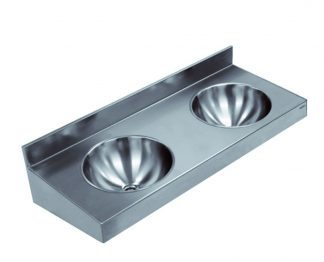 Vægmonteret rustfri stål håndvask (AISI 304) - 2 eller 3 på række