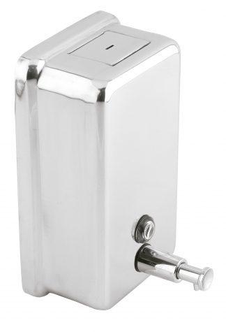 Sæbedispenser med knap lavet af rustfri stål (AISI 304) - Vertikal