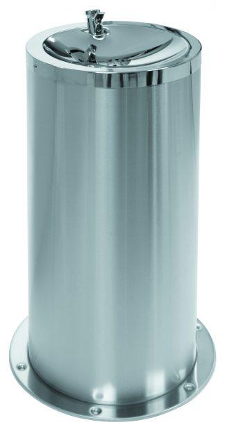 Gulvmonteret drikkefontæne fremstillet i rustfrit stål (AISI 304)