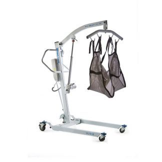 Elektrisk patientlift med hjul og justerbar arm - Max belastning: 180 kg